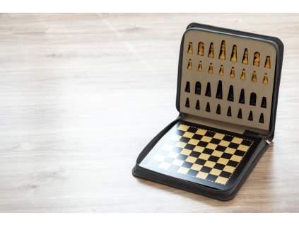 Magnetické šachy eben veľké  + doprava zdarma + darček