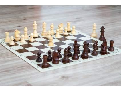 Drevené šachy staunton s rolovacou šachovnicou  + doprava zdarma