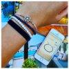 Minerální náramek perleť, minerální náramek lapis lazuli 4mm, simple bílý náramek s kormidlem z chirurgické oceli, tmavě modrý sametový náramek