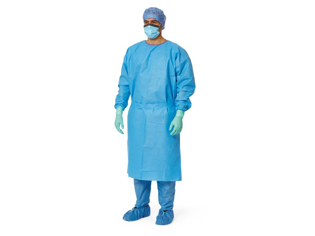 Personal protective equipment gloves mask hair cover cap booties apron gown