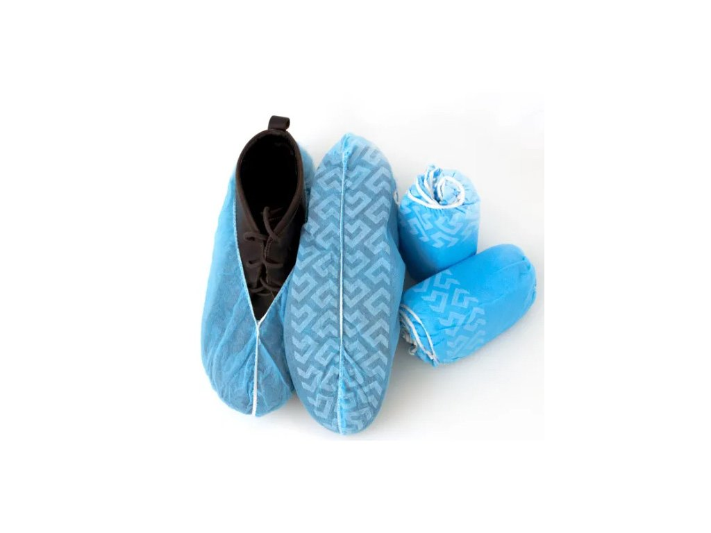 Non Woven Disposable Shoe Covers Anti Dust PP Overshoes Foot Covers for Cleanroom Consumable Anti Slip Non Woven Shoe Cover