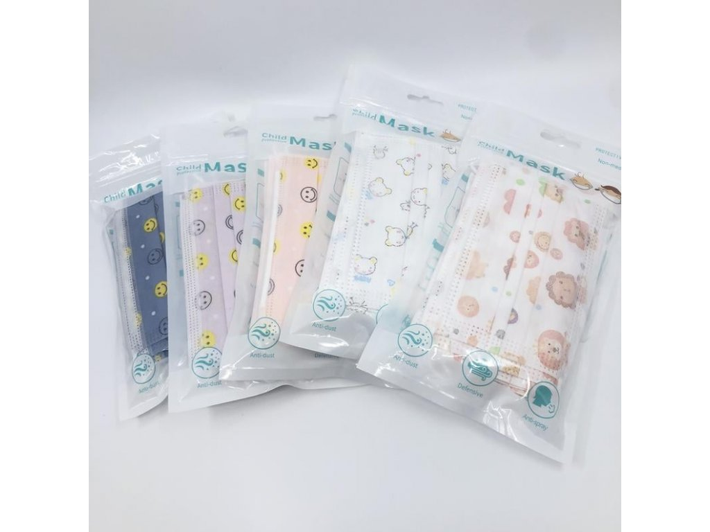 Kids 3 Ply Disposable Face Masks