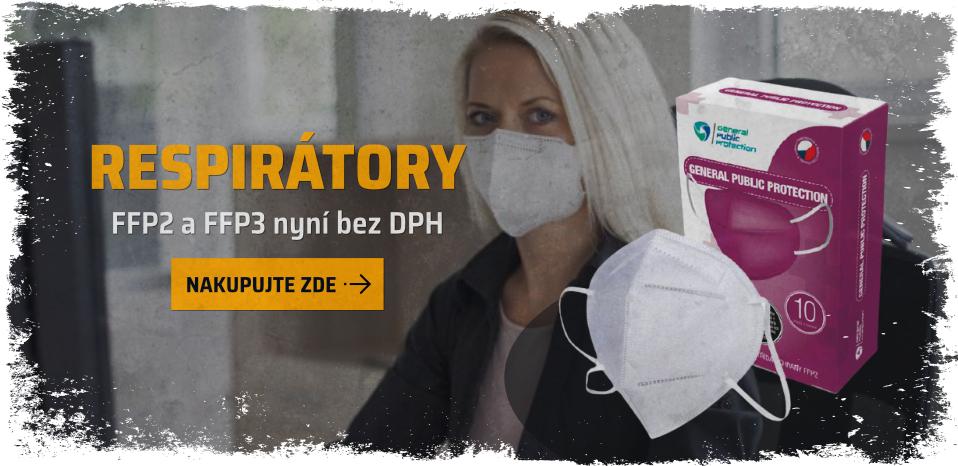 Respirátory bez DPH