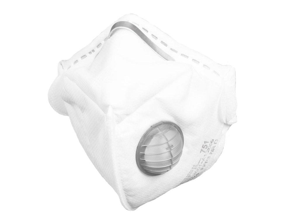 respirator ffp3 refil 751 vydechovy ventilek skladem