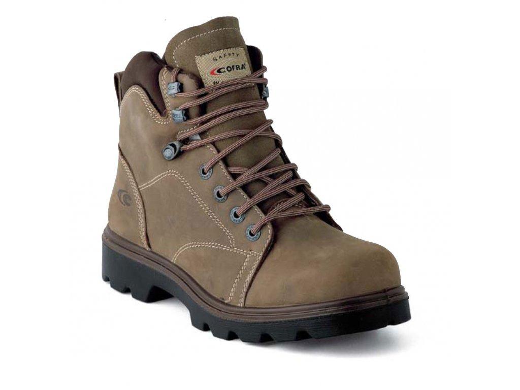 Vysoká pracovní obuv COFRA - LAND - svršek: hydrofobní kůže nubuk