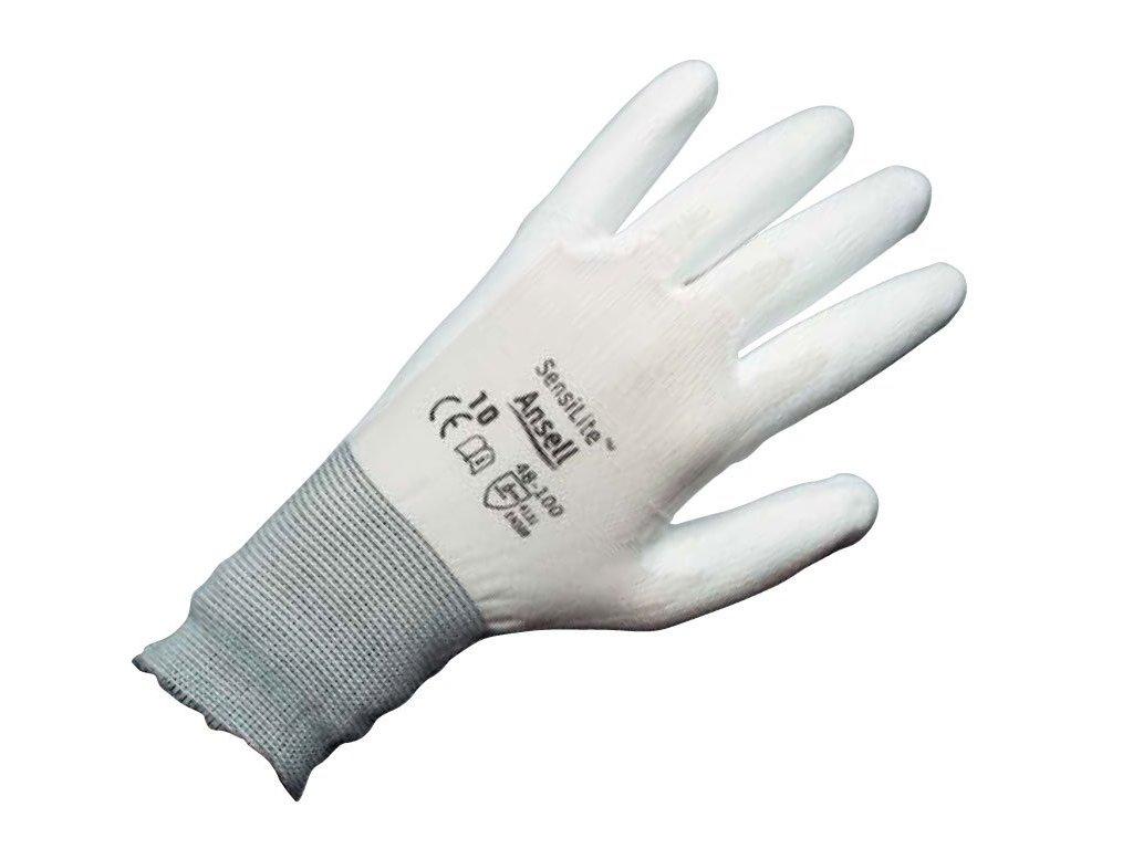 Pracovní rukavice  Ansell SensiLite® 48-100 - bílé
