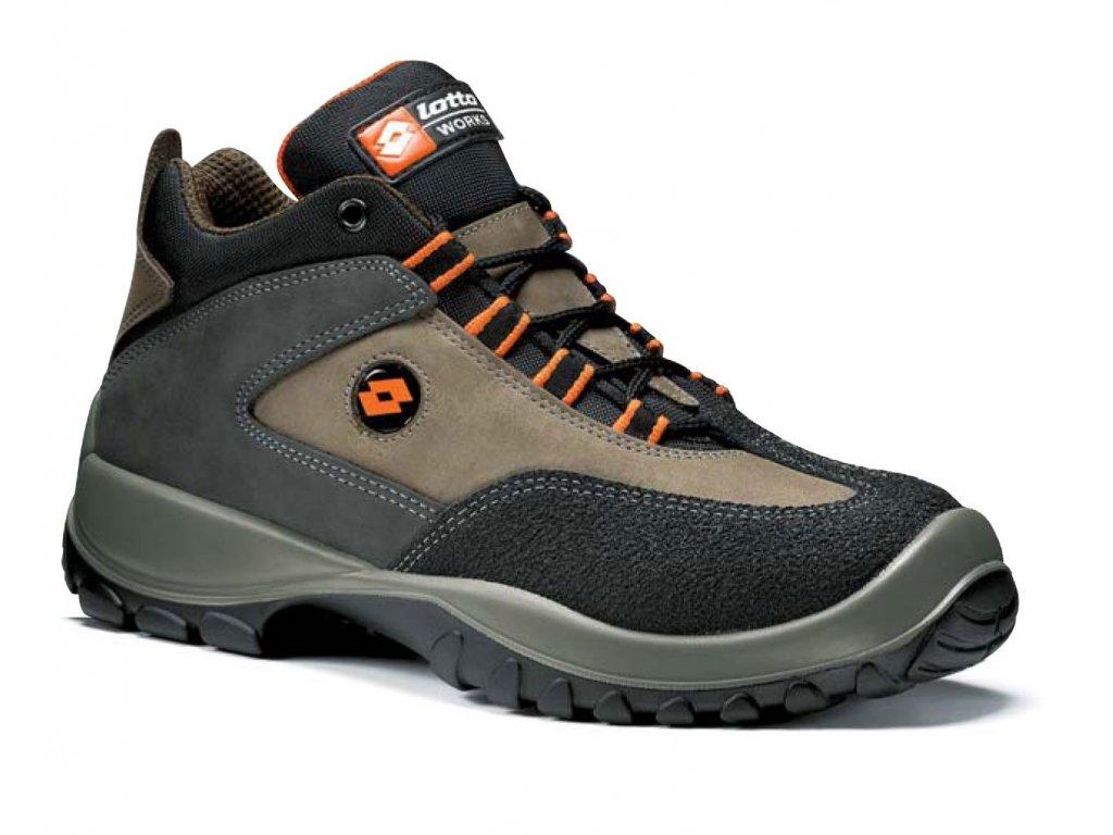 Kotníková pracovní obuv - sportovní design - LOTTO - FOX - NU - S3 svršek: Nubuck