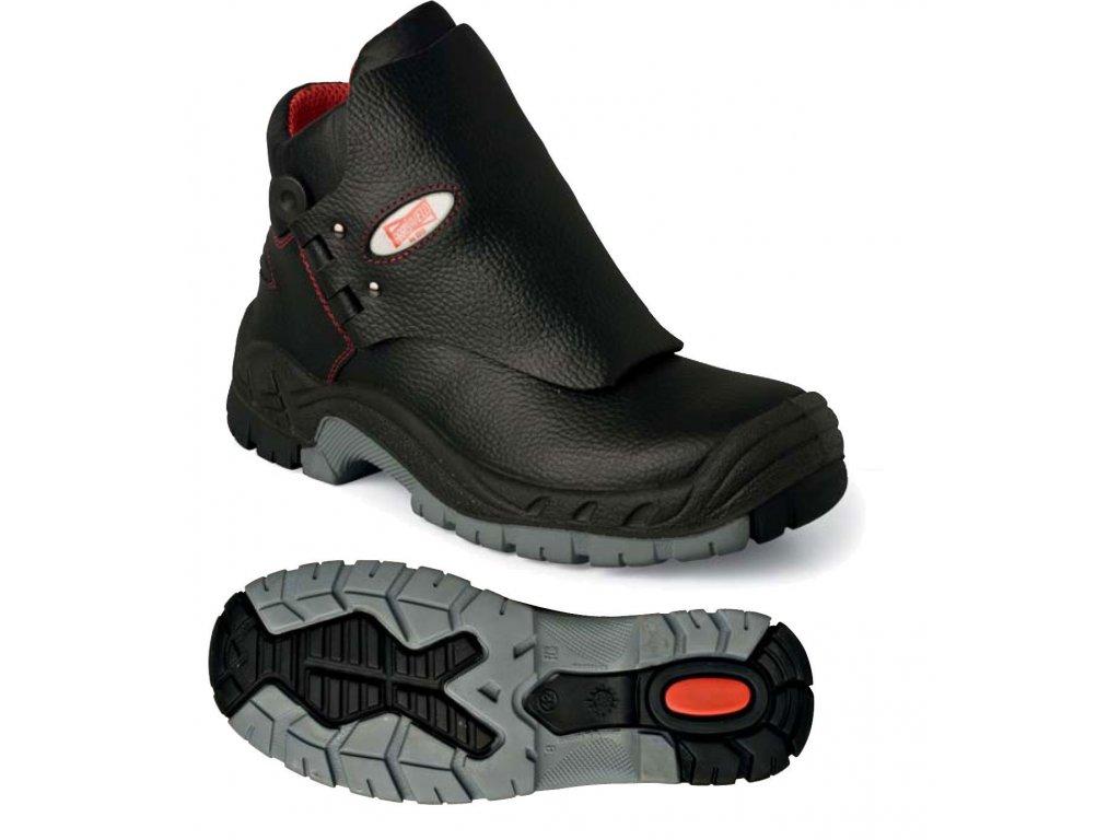 Vysoká pracovní obuv pro svářeče EDIS - WELDER ARROWELD