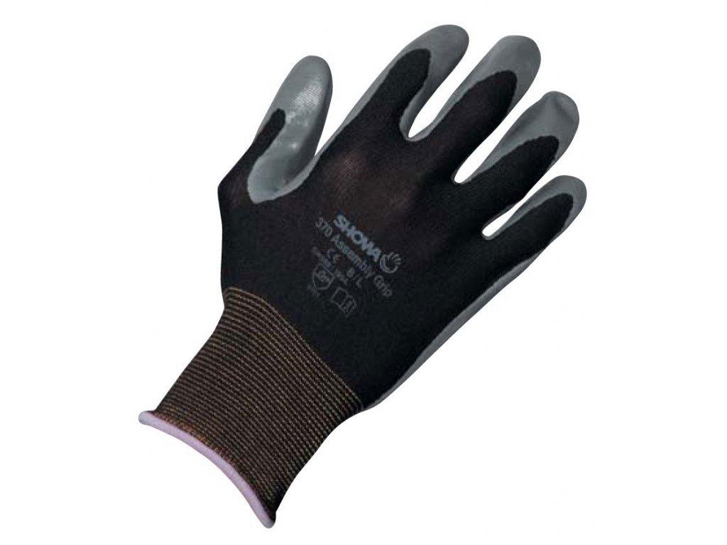 Pracovní rukavice Showa Nitril Fit 370 - rukavice  s elastickým základem z nekonečného vlákna nylonu