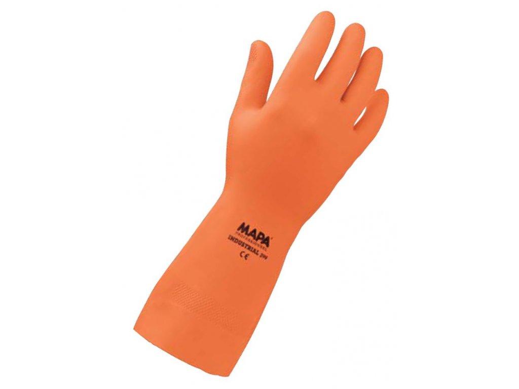 Pracovní rukavice Mapa Professionnel Industrial 299 - pracovní rukavice z přírodního latexu, s rýhovaným povrchem