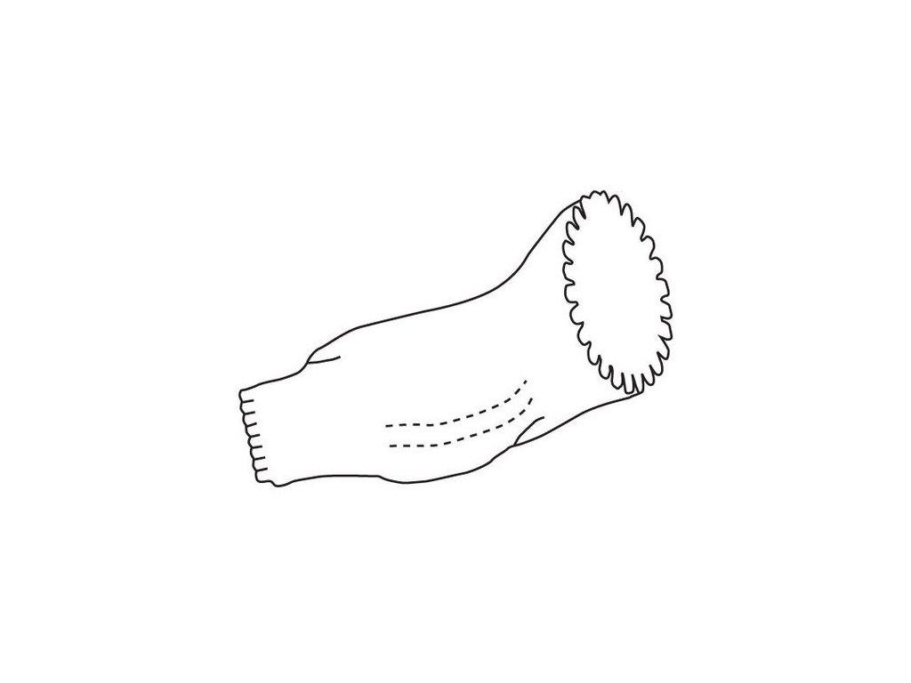 Jednorázový návlek na rukáv z polyetylenu