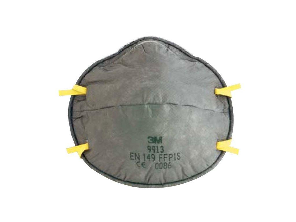 Respirátor 3M 9913 - vybaven aktivním uhlím k ochraně proti prachům a exhalacím z organických látek