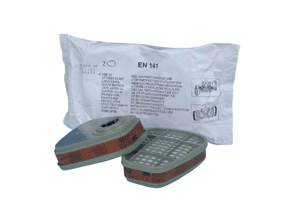 FILTR 3M A2 6055 - filtr pro plyn a organické výpary pro masky série 6000