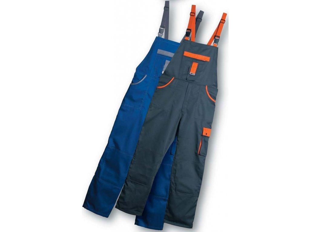 Montérky - pracovní kalhoty s laclem EDIS TOP LINE