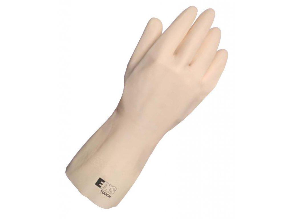 Ochranné pracovní rukavice EDIS TOUCH - přírodní latex