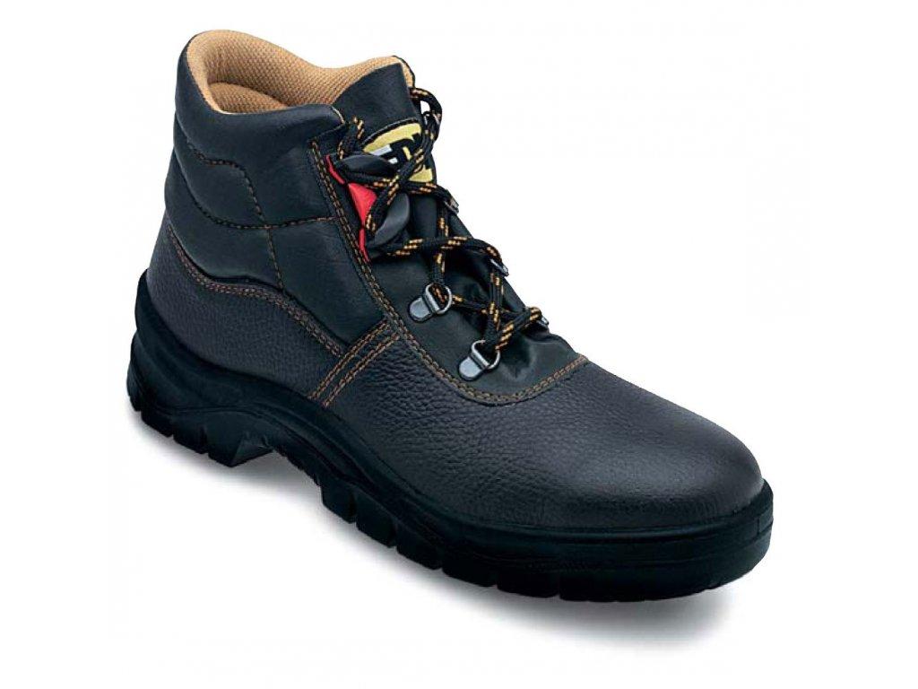Vysoká pracovní obuv EDIS - JUNIOR s barevným vrškem