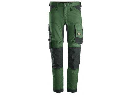 Kalhoty AllroundWork Stretch tmavě zelené