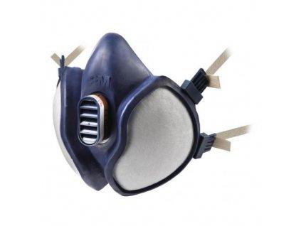 3M 4251+Bezudrzbova polomaska pro lakyrniky serie 4000+ s integrovanými filtry FFA1P2RD organika a castice