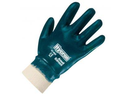 Unikátní nitrilové pracovní rukavice Ansell Hycron® 27-602 - zcela povrstvené, pletené zápěstí, délka 260 mm