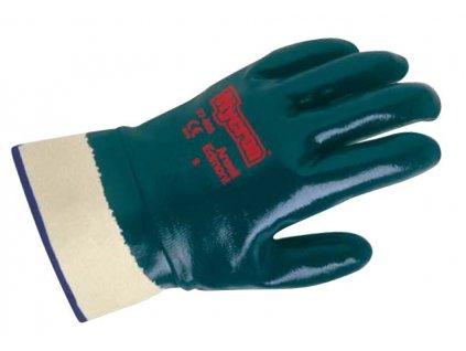 Unikátní nitrilové pracovní rukavice Ansell Hycron® 27-805 - zcela povrstvené, bezpečnostní manžeta - délka 250 mm