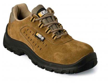 Nízká pracovní obuv EDIS - HENRY se semišovým vrškem - děrovaná
