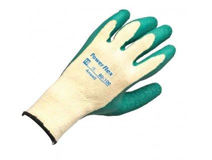 Pracovní rukavice Ansell PowerFlex® 80-100 - vynikající mechanická odolnost spolu s pohodlím a jistým úchopem