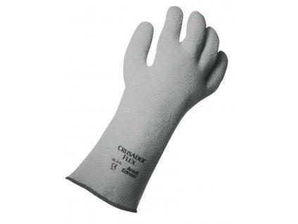 Pracovní rukavice Ansell Crusader Flex® 42-474 - nitrilové, máčené povrstvení na nepletené plstěné podšívce.