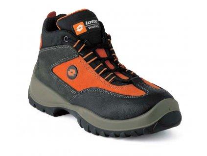 Kotníková pracovní obuv - sportovní design - LOTTO - FOX S1P SRC - svršek: semišový vršek