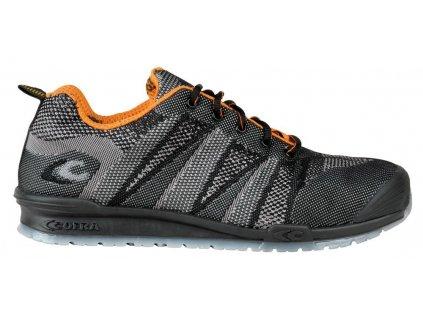 Nízká pracovní obuv COFRA FLUENT BLACK/ORANGE S1 P SRC