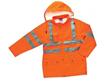 Reflexní bunda do deště s oddělenou podšívkou, s kapucí