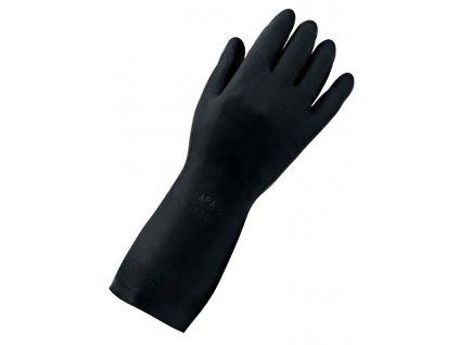 Pracovní rukavice Mapa Professionnel Technimix 415 - pracovní rukavice ze směsi latexu a neoprénu, chlorovaný a rýhovaný povrch
