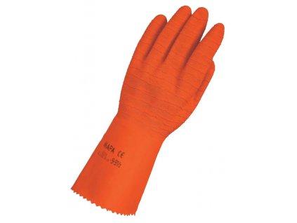 Pracovní rukavice Mapa Professionnel Harpon 321 - pracovní rukavice z přírodního latexu se zesílenou přilnavostí