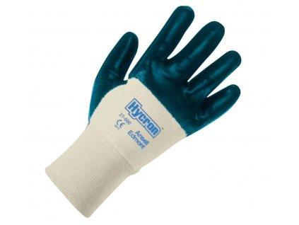 Unikátní nitrilové pracovní rukavice Ansell Hycron® 27-600 - povrstvená dlaň, pletené zápěstí, délka 260 mm