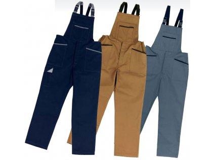 Montérky - pracovní kalhoty s laclem EDIS LINEA