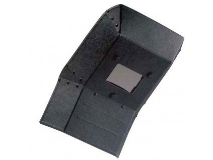 Ochranný štít pro svářeče - ruční štít, zakřivený, vyztužený
