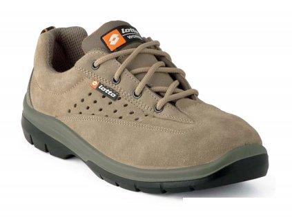 Nízká pracovní obuv - sportovní design - LOTTO - PALMA S1P - svršek: semišový vršek