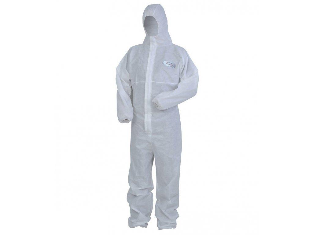 Jednorazová kombinéza COFRA SAFE - SCREEN 55 g / m2 (Farba biela, Veľkosť 2XL)