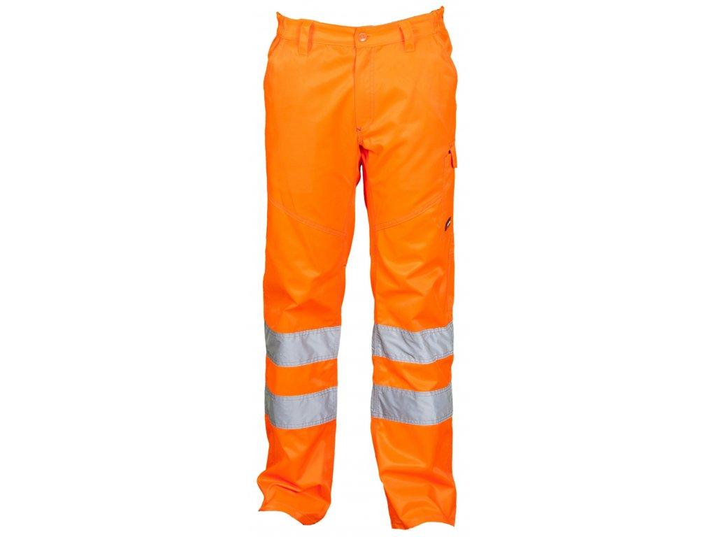 Pánske celoročné nohavice s reflexnými pruhmi PANXENO 240 GR / MQ (Farba ORANŽOVÁ FLUO, Veľkosť S)
