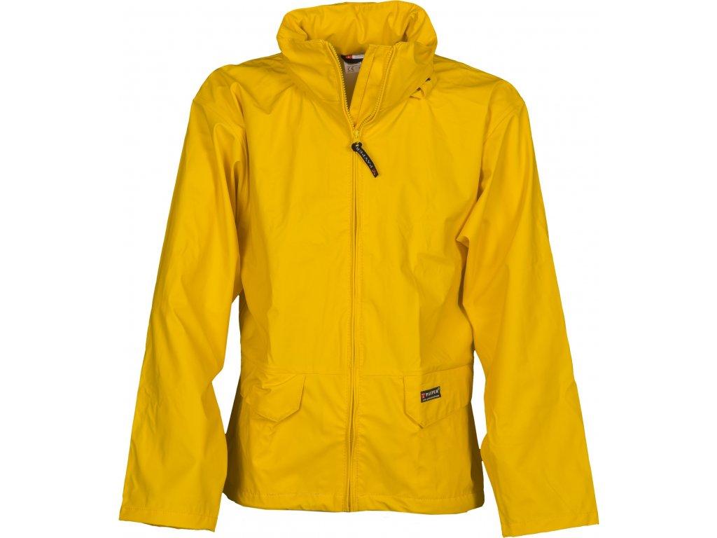 Polyuretánová bunda s kapucňou v golieri DRY JACKET 180 GR / MQ (Farba žltá, Veľkosť S)