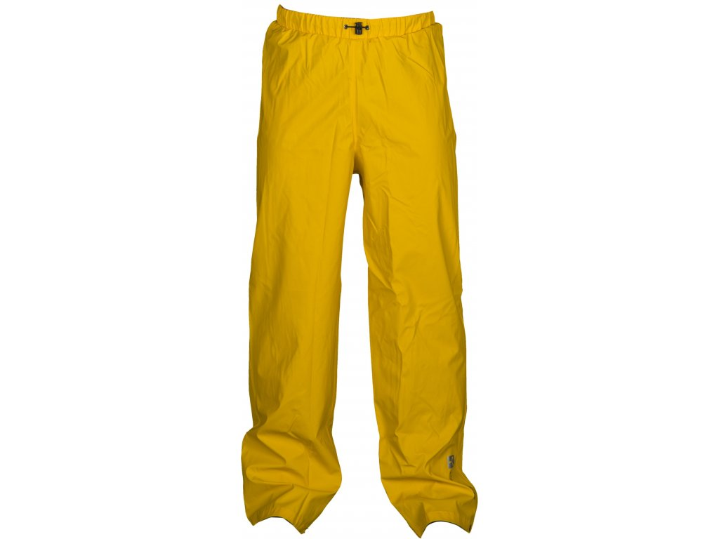 Polyuretánové nohavice s elastickým pásom na šnúrku DRY PANTS 180 GR / MQ (Farba žltá, Veľkosť S)