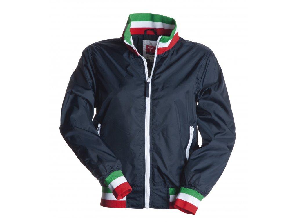Dámska ľahká bunda s plastovým zipsom UNITED 65 GR / MQ (veľkosť S, farba Námornícka modrá / Taliansko)