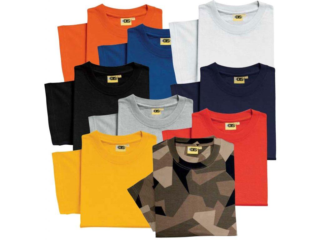 Pracovné tričko krátky rukáv EDIS (Farba čierna, Veľkosť XL)