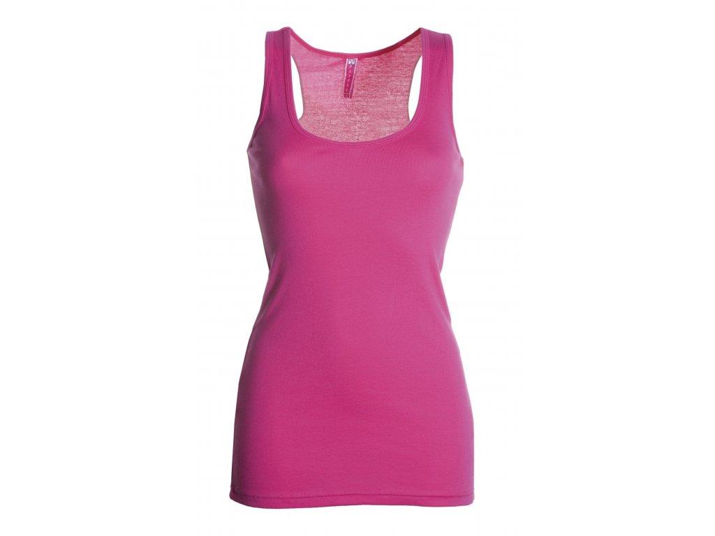 Dámske športové tričko LOOK 190 GR / MQ (Farba ružová, Veľkosť S)