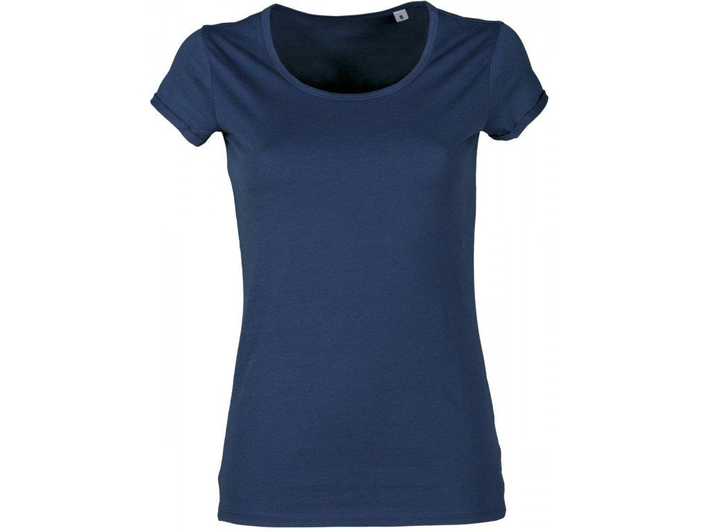 Dámske tričko YOUNG 150 GR / MQ (Farba MODRÁ DENIM, Veľkosť XS)