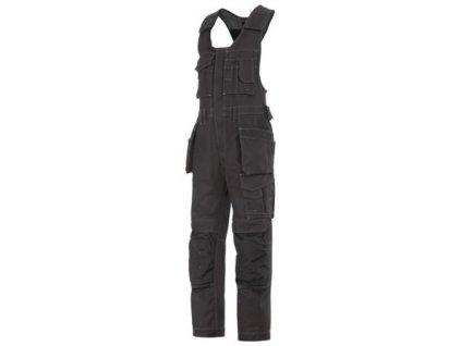 Nohavice s trakmi Snickers Canvas + ™ s HP 0214 (Farba čierna, Veľkosť 44)