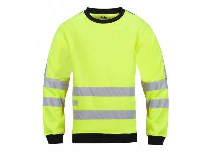 Mikina mikro-fleeceová ke krku, vysoká viditelnost EN 471 tř.3 vel. S Snickers Workwear (Veľkosť L)