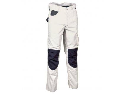 Maliarske pracovné nohavice COFRA SALISBOURG 300g / m2 (Farba Biela / Čierna, Veľkosť 44)