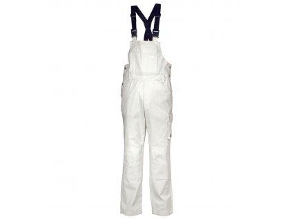 Maliarske pracovné nohavice s trakmi COFRA KOLKATA (Farba biela, Veľkosť 2XL)