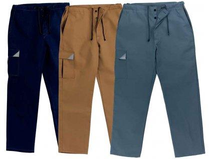 Montérky - pracovné nohavice EDIS LINEA (Farba modrá, veľkosť M)