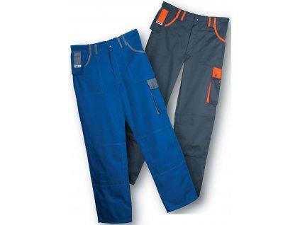 Montérky - pracovné nohavice EDIS TOP LINE (Farba Šedo / Oranžové, veľkosť M)